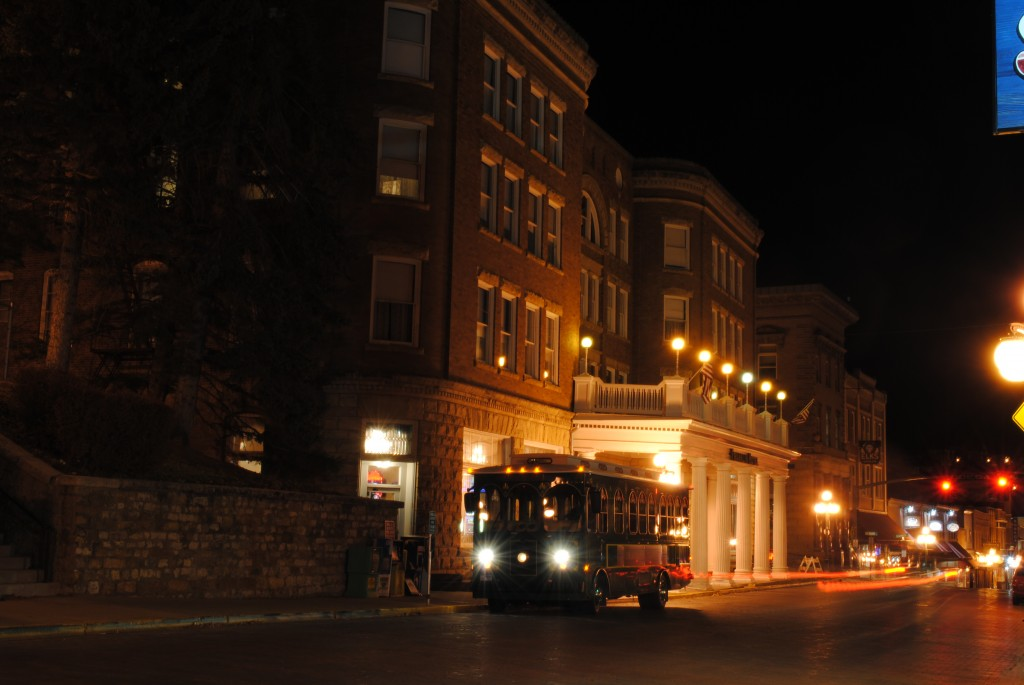 photo of the trolley in Deadwood SD