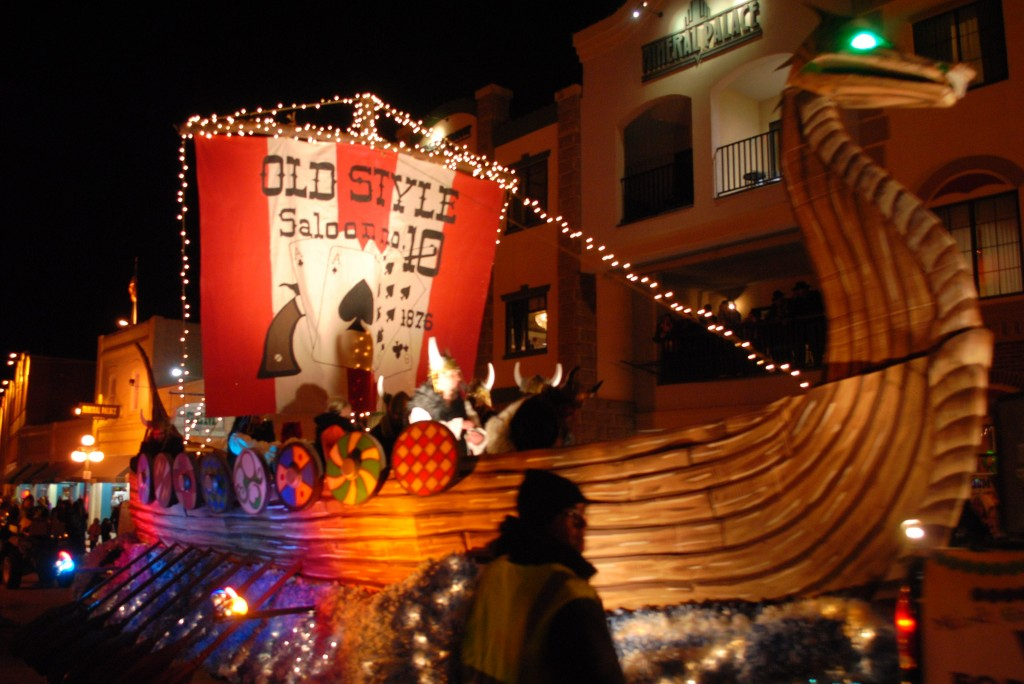 photo mardi gras float Deadwood South Dakota