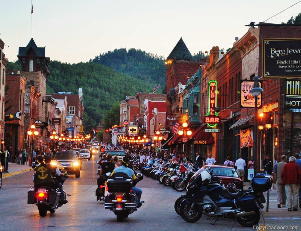 photo of motorcycles in Deadwood SD
