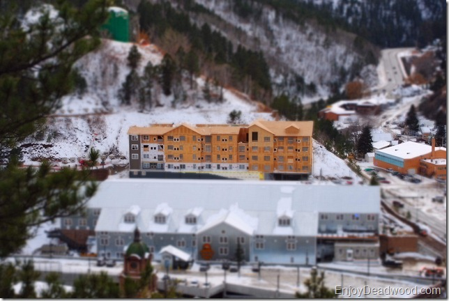 photo Deadwood Mountian Grand Hotel under contruction