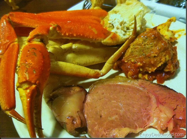Crab Legs and Prime Rib Silverado Franklin Deadwood South Dakota