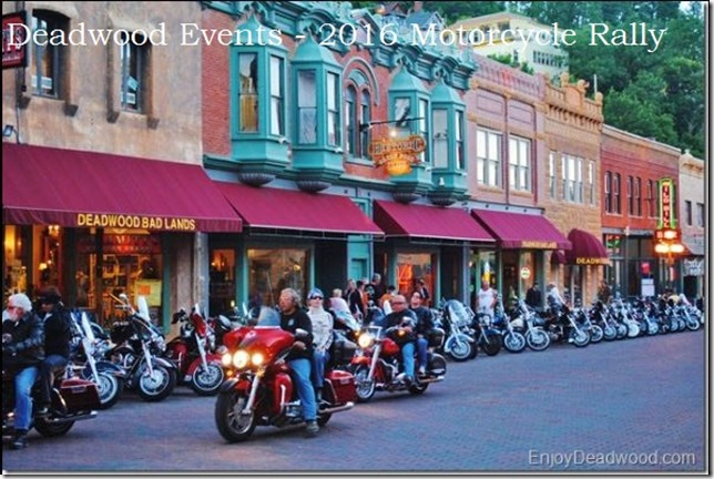 Events in Deadwood during the 2016 motorcyle rally