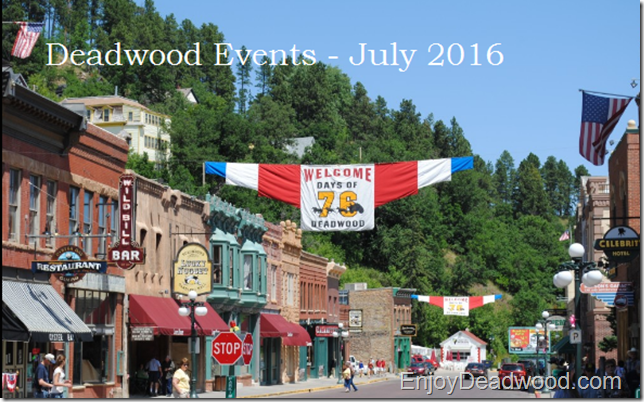 July 2016 Deadwood SD events
